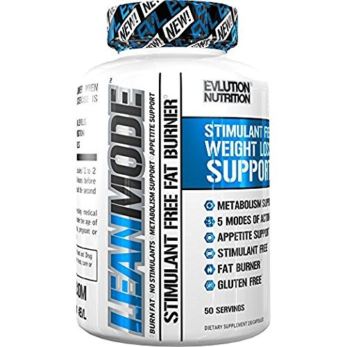 Evlution Nutrition Lean Mode Stimulant-Free Weight Loss Support with Garcinia Cambogia CLA and Green Tea Leaf extract (50 Servings)