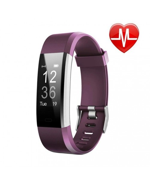 Today 50% Off! Fitness WatchFitness TrackerLetufit Plus Activity Tracker With Heart Rate MonitorStep CounterGPS TrackerWaterproof Smart Wristband for Android and Ios