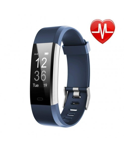 LETSCOM Fitness Tracker HR Activity Tracker Watch with Heart Rate Monitor Waterproof Smart Fitness Band with Step Counter Calorie Counter Pedometer Watch for Kids Women and Men