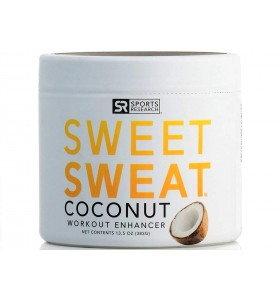 Sweet Sweat Coconut XL Jar 135oz | Helps increase circulation sweating and motivation during exercise | Made with Extra Virgin Organic Coconut Oil and 7 other Natural Oils