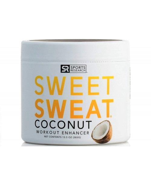 Sweet Sweat Coconut XL Jar 135oz   Helps increase circulation sweating and motivation during exercise   Made with Extra Virgin Organic Coconut Oil and 7 other Natural Oils