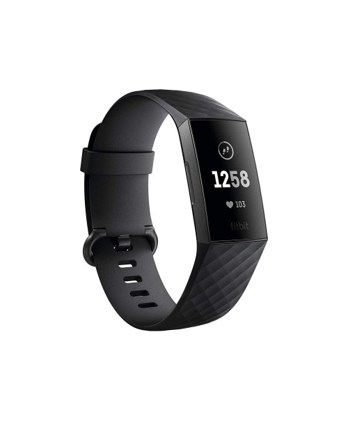 Fitbit Charge 3 Fitness Activity Tracker Graphite/Black One Size (S & L Bands Included) 1 Count